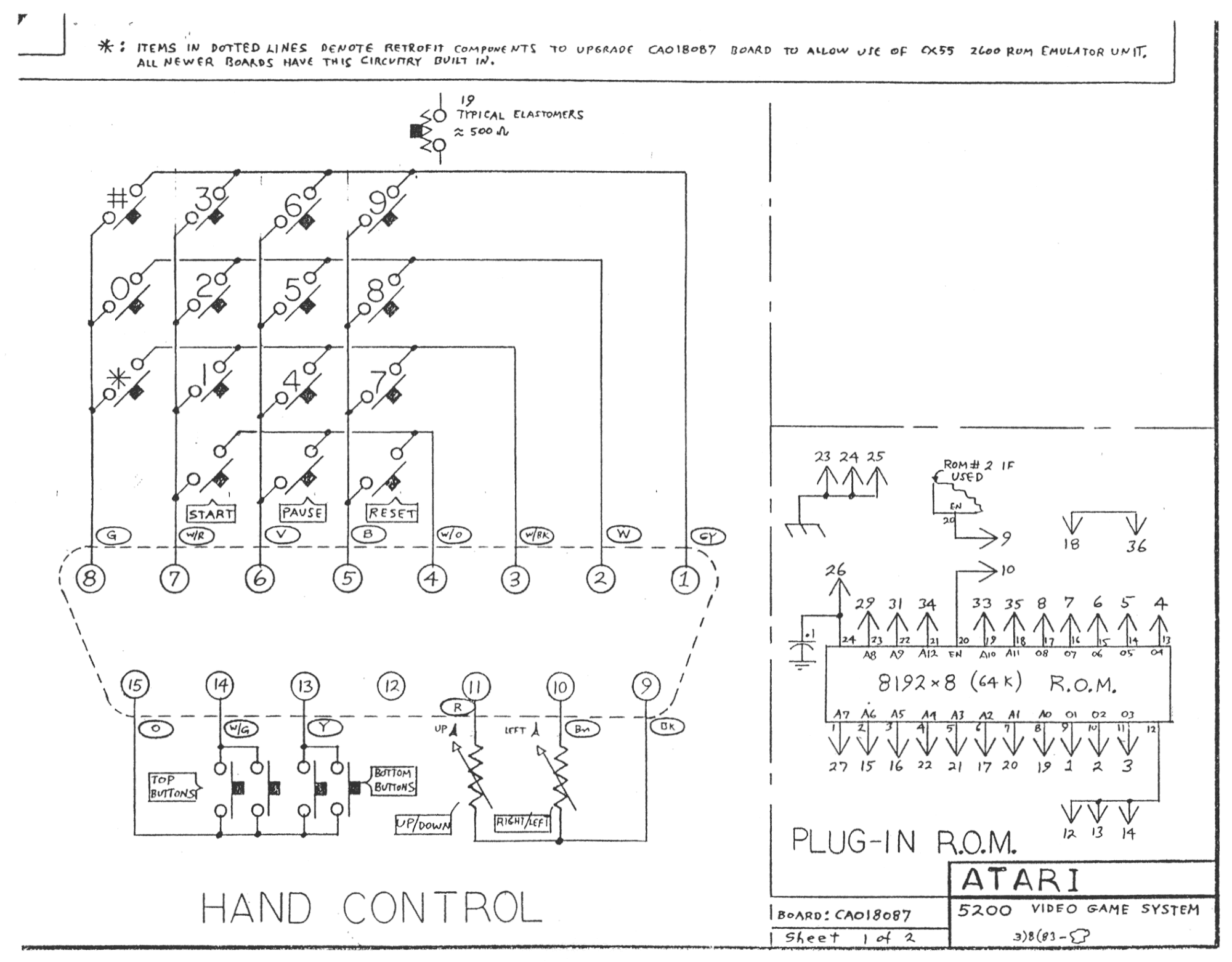 Dp Library Technical Documents Jaguar Wiring Diagram 64 Atari 5200 Accessories Schematic